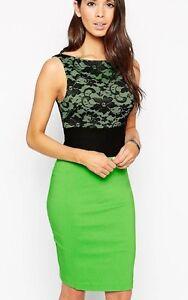 Vesper-Hazel-Pencil-Dress-with-Lace-Top-Green