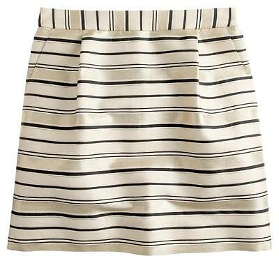 Women's Clothing Open-Minded *new* J Crew Gold-stripe Mini Skirt 08174 $138~sz 0 Highly Polished