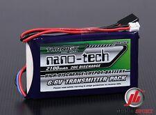 Nano-tech 2100mAh 2S 6.6 v LiFe TX RX Battery pack FITS Futaba T14SG & 4PK
