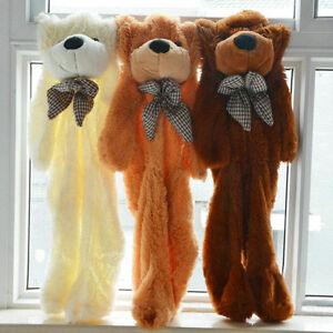 60-300cm-Huge-Giant-super-Semi-finished-Teddy-Bear-Skin-without-cotton-AAA