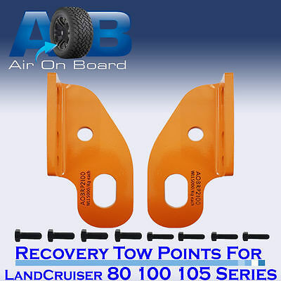 Recovery Tow Points Kit for Toyota LandCruiser 80 100 105 series heavy duty