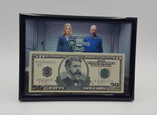 """Breaking Bad Heisenberg Screen Used Prop Money Display 5x7/"""" COA"""