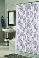 Lucerne Fabric Shower Curtain Design With Flocking 70x72 Inch Multiple Colors