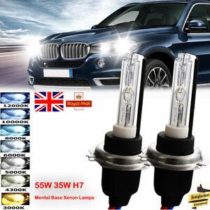 55W-35W-H7-Hid-Xenon-Headlight-bulbs-Kit-Metal-Base-4300K-6000K-12000K-Lamps-UK