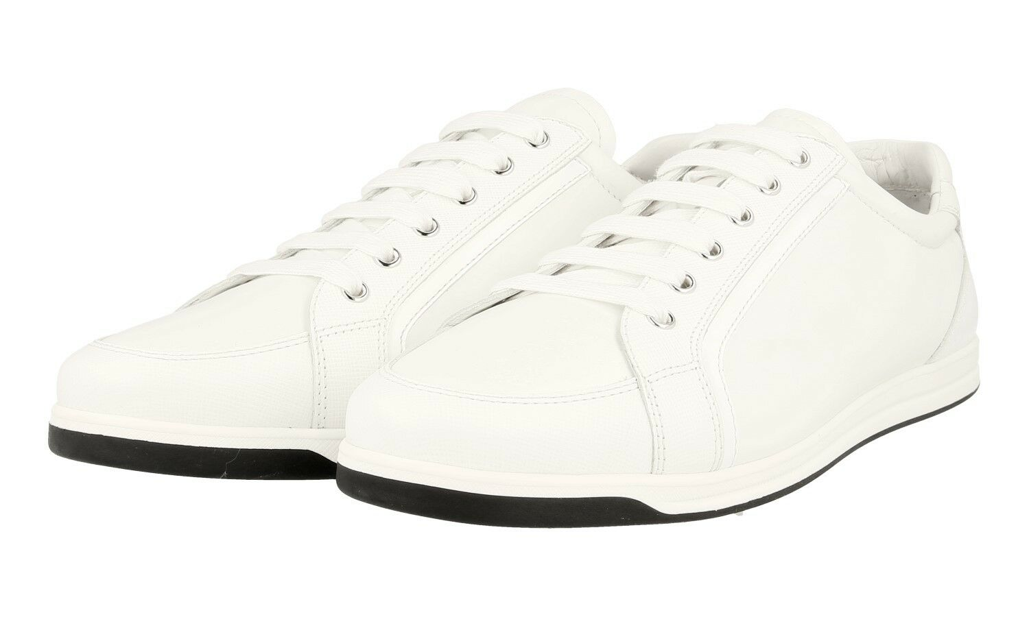 AUTH LUXURY PRADA SAFFIANO SNEAKERS SHOES 3E5892 WHITE 39,5 40 UK 6.5