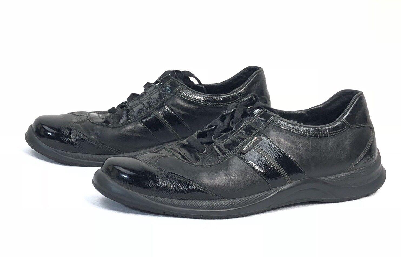 Mephisto femmes Laser latent en cuir à lacets confort noir Baskets chaussures 9.5 US