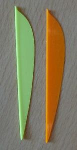 "Vanes 3,6"" Farben Sortiert Strong-Willed Ffp flex Fletch Products"
