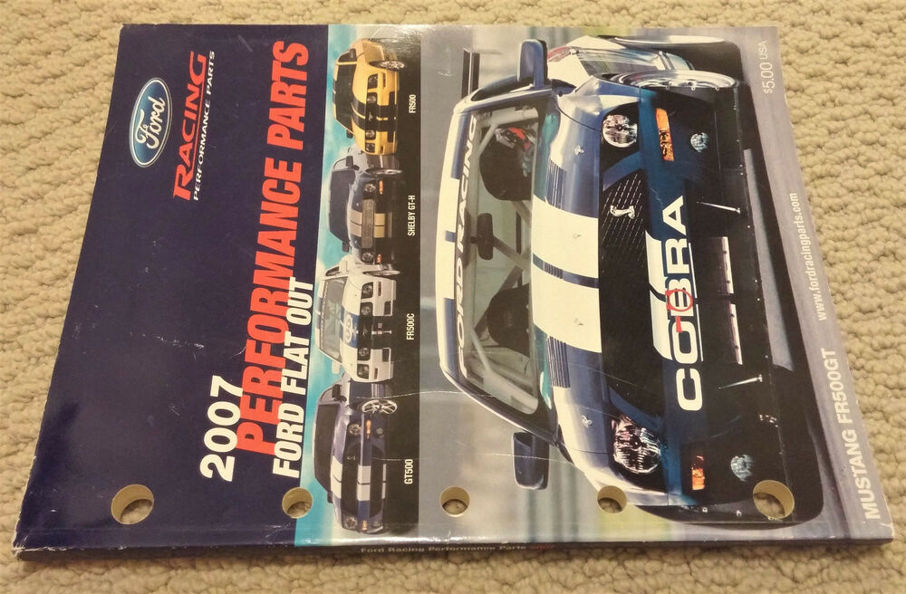 2007 ford racing performance parts catalog m 0750 a2007 ebay. Cars Review. Best American Auto & Cars Review