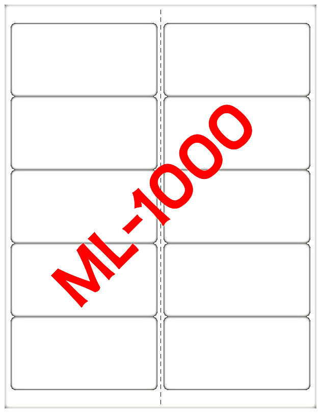 5000 maco ml 1000 mailing shipping labels 4 x2 laser. Black Bedroom Furniture Sets. Home Design Ideas