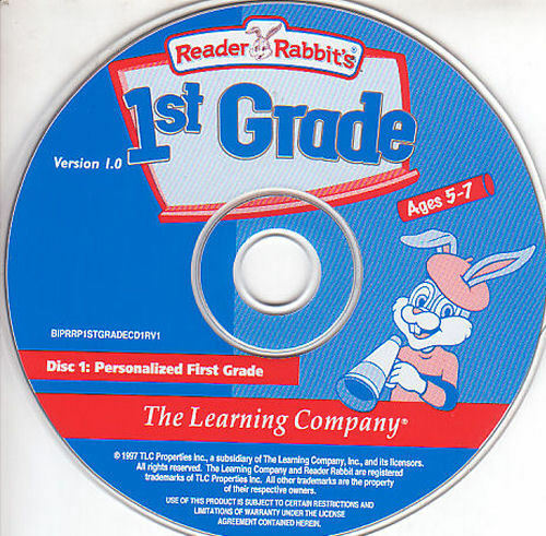 Reader Rabbit Personalized 1ST GRADE Kids Educational Ages