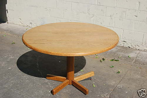 Solid Oak Wood 48 48 Quot Inch Round Dining Table La Calif Ebay