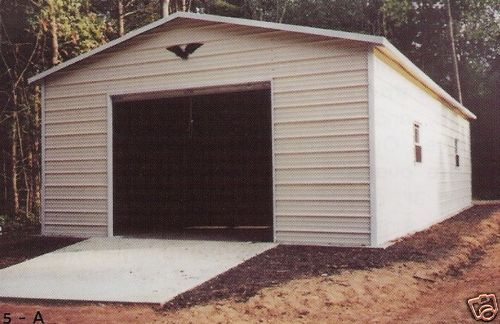 garage 22 x 31 x 11 w 10x10 door all steel free
