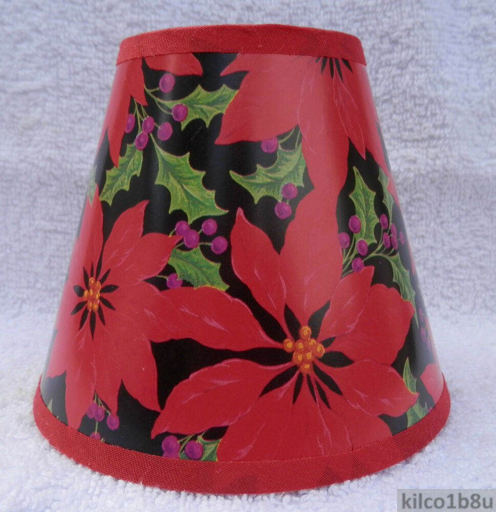 Holly Berry Mini Holiday Multi Color Paper Chandelier Lamp