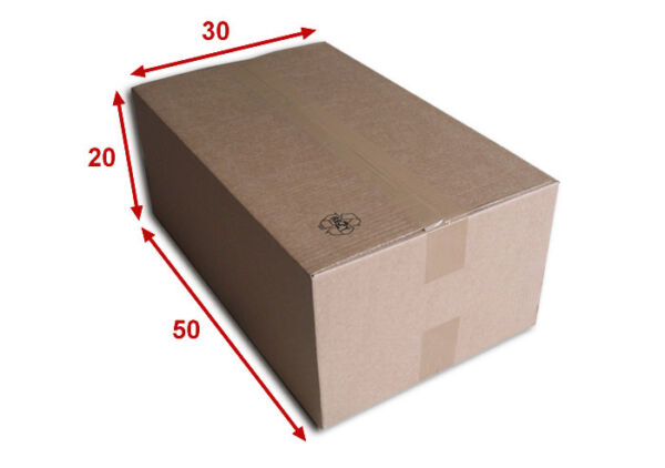 10 boîtes emballages cartons  n° 60   - 500x300x200 mm - simple cannelure