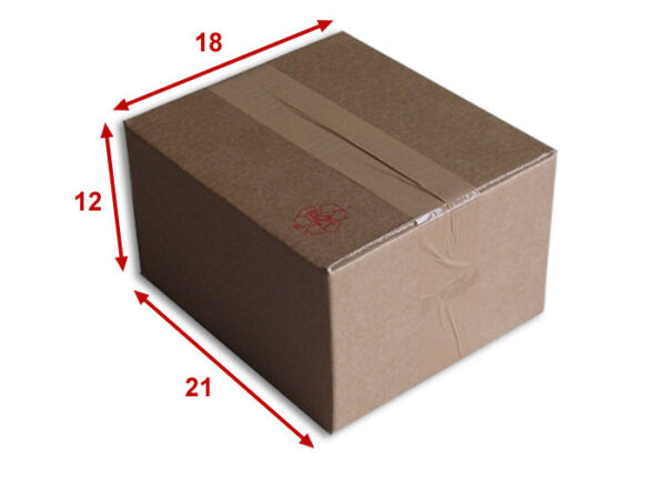 25 boîtes emballages cartons  n° 15   - 210x180x120 mm - simple cannelure