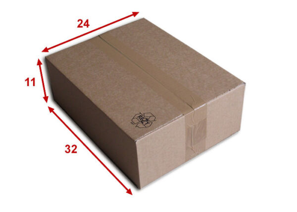 50 boîtes emballages cartons  n° 39   - 320x240x110 mm - simple cannelure