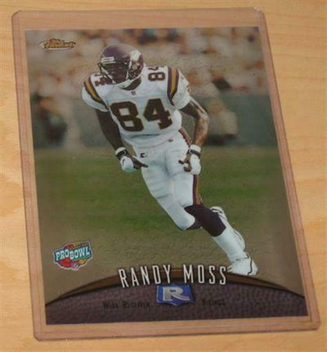 Rookies Coupons: 1998 Topps Finest Pro Bowl Jumbo RANDY MOSS ROOKIE CARD