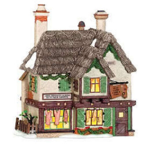 department 56 dickens abel beasley butcher village ebay. Black Bedroom Furniture Sets. Home Design Ideas