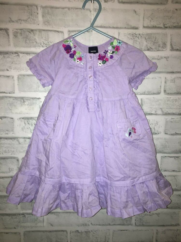 Nwt baby gap embroidered dress bird detail months
