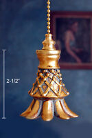 1 of VINTAGE / NEOCLASSICAL CEILING FAN PULL CHAIN