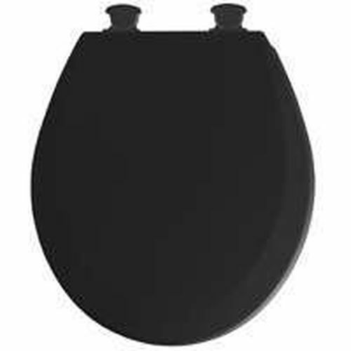 NEW BEMIS 46EC 047 USA QUALITY ROUND BLACK WOOD TOILET CLOSET SEAT 3060340