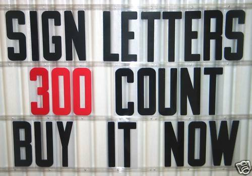 8 outdoor portable marquee changeable sign letters 300 ebay