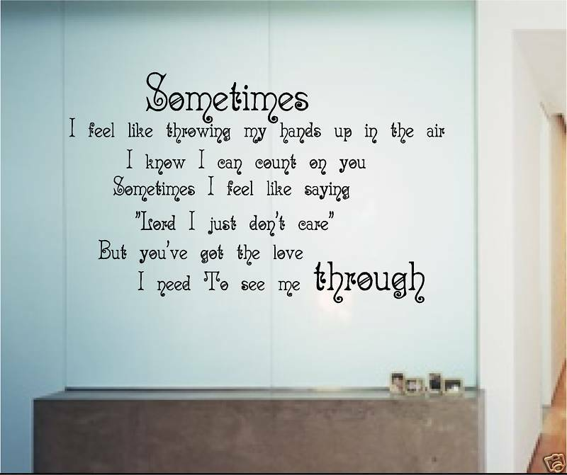 Youve Got The Love Quote Sticker Wall Art Vinyl Music Ebay