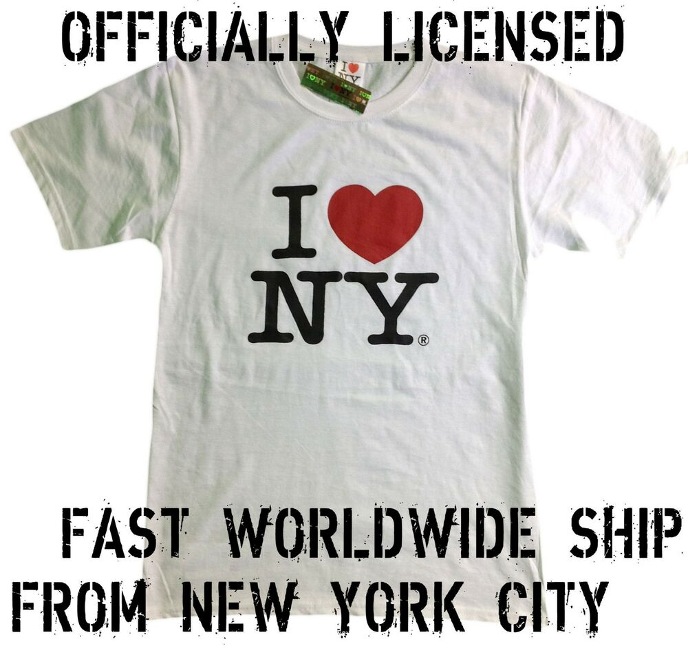 I Love Ny T Shirt White Officially Licensed Tee Shirt