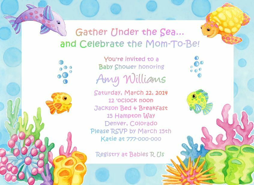 under the sea adorable baby shower invitations  ebay, Baby shower