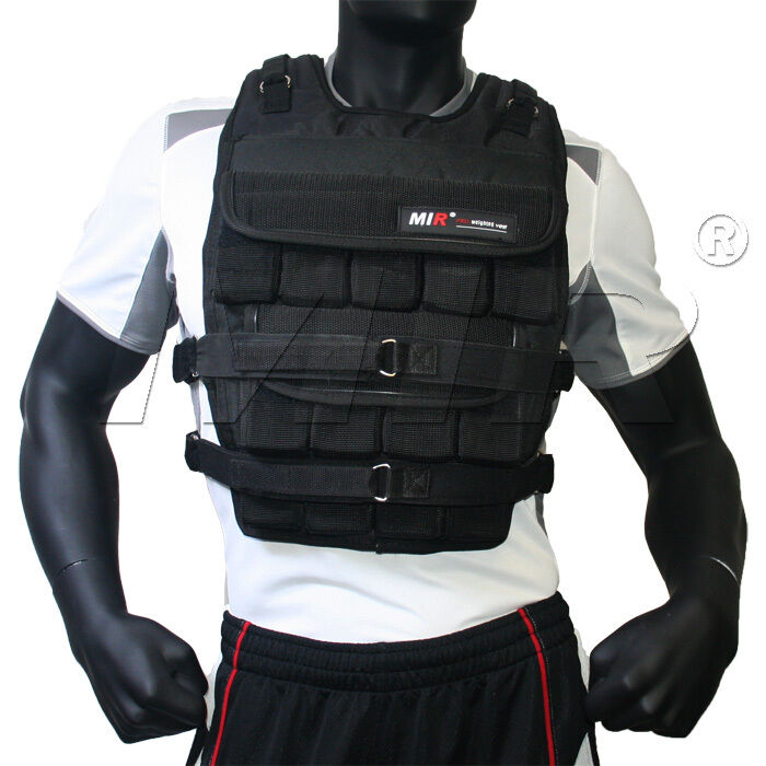 MiR Pro 100Lbs Weight Adjustable Weighted Vest ...
