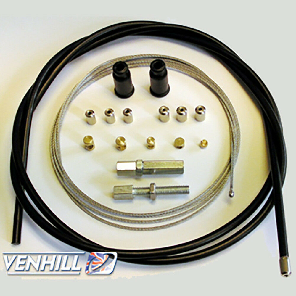 Throttle Cable Kits : Venhill universal motorcycle throttle and clutch cable kit