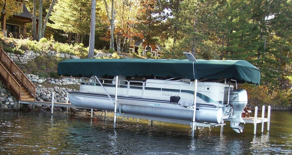 Replacement canopy boat lift cover shoremaster 19x108 ebay for Boat lift motor cover
