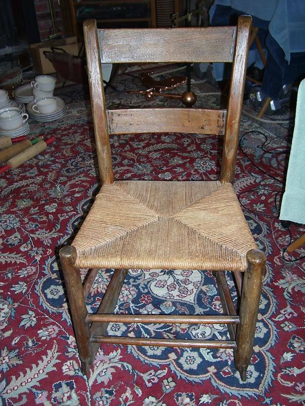 antique wooden rocking chair wicker seat small ebay. Black Bedroom Furniture Sets. Home Design Ideas