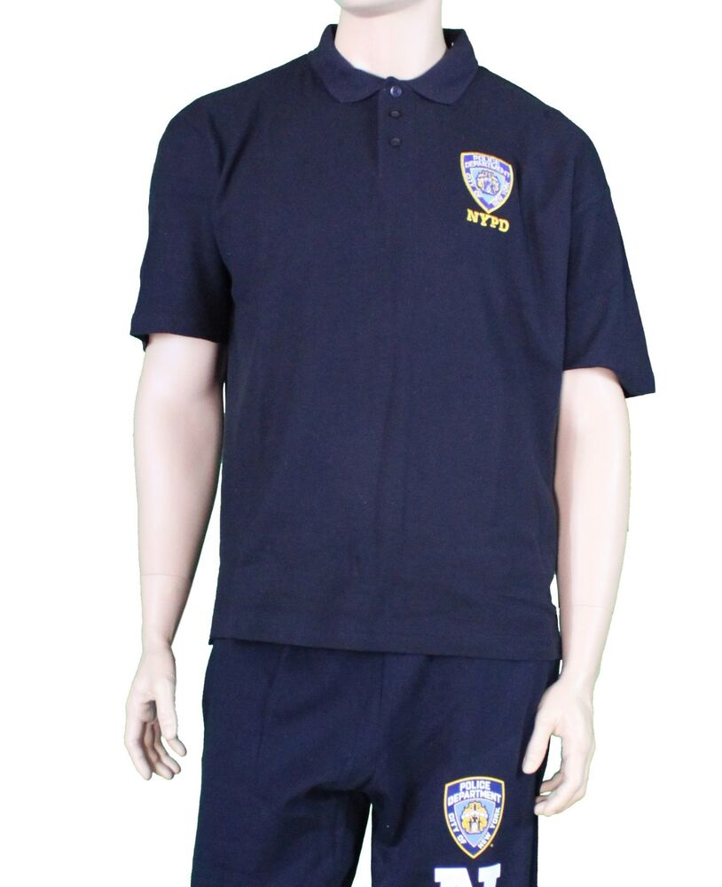Official nypd polo shirt fine embroidered logo genuine for Embroidered logos on shirts