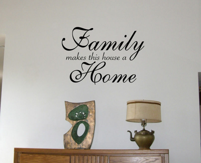 Wall Decals Family Home Lettering Wall Stickers Ebay
