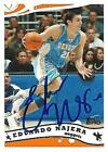 Eduardo Najera Signed 2005 Topps Denver Nuggets Card - COA - Dallas Mavericks
