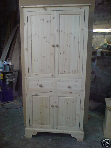 BESPOKE HANDMADE SOLID PINE KITCHEN HALL STORAGE LARDER UNIT EBay
