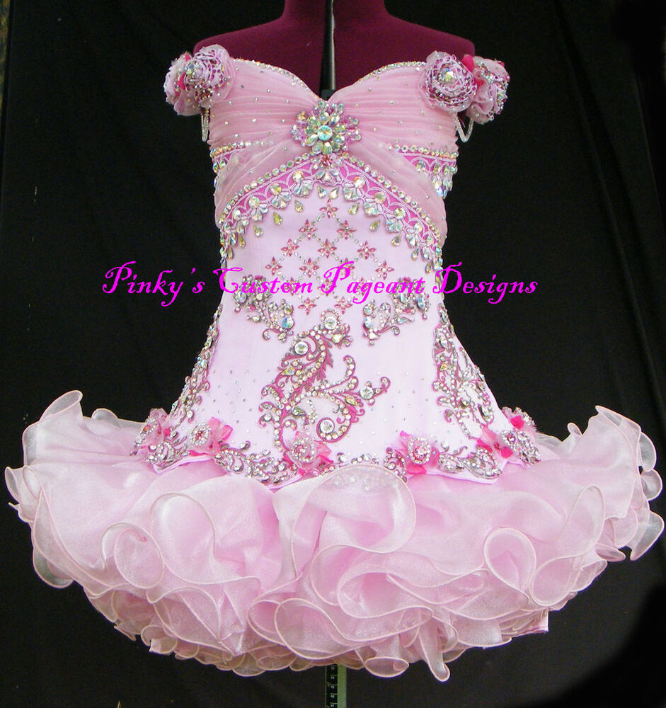 CUSTOM MADE NATIONAL PAGEANT DRESS / OOAK HIGH GLITZ | eBay