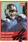 Tim Carter Signed 2004 Fleer Tradition NY Giants Card - COA - Auburn - Browns