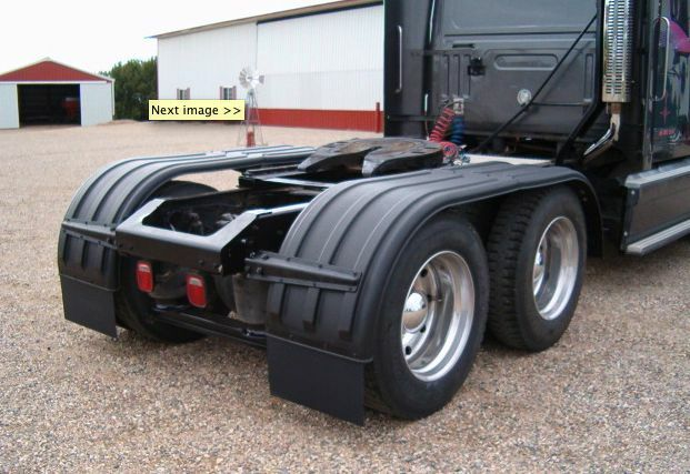 Tractor Trailer Fenders : Min series black tandem poly fenders for tractor or