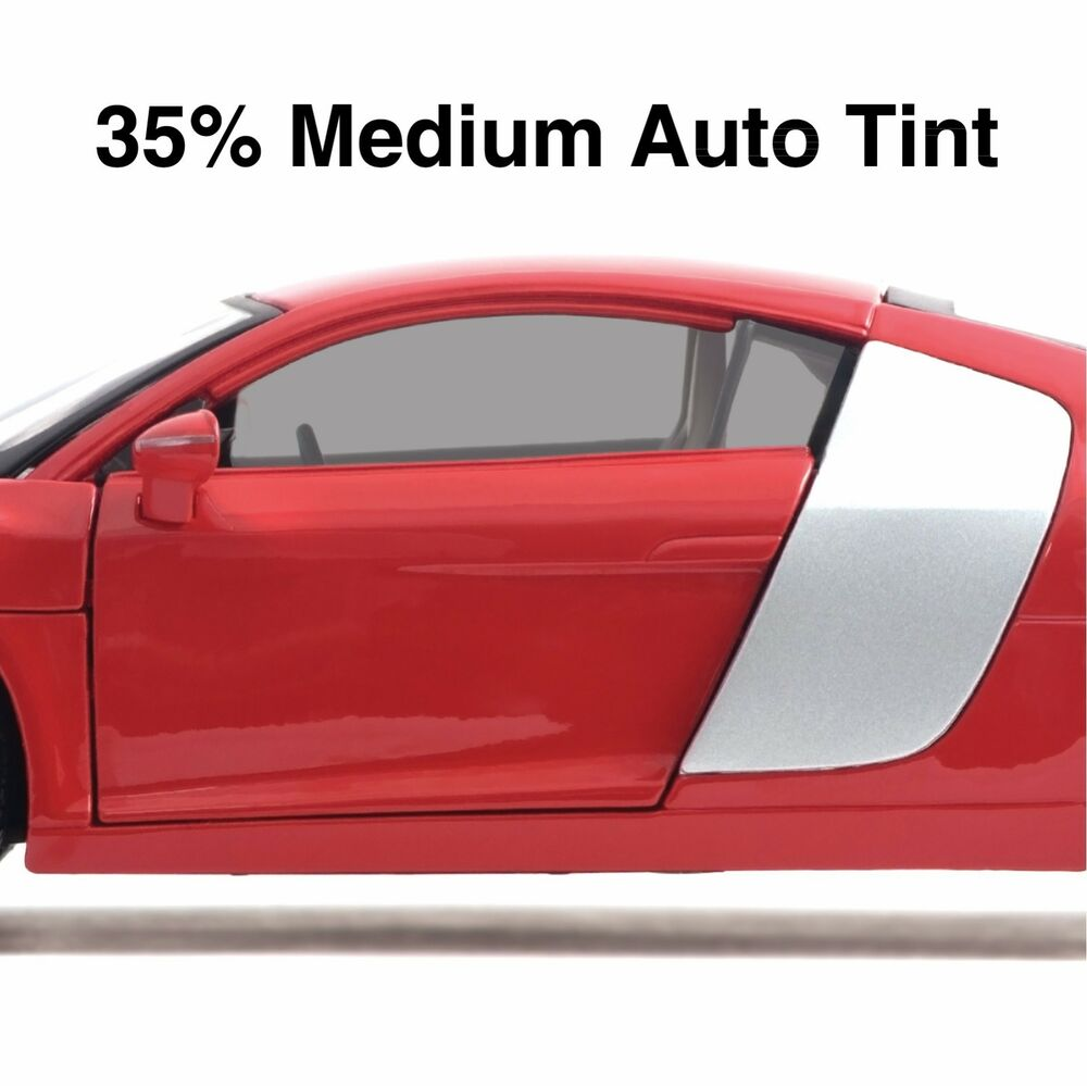 Car window tint film medium black smoke 35 auto tinting for Window tint film