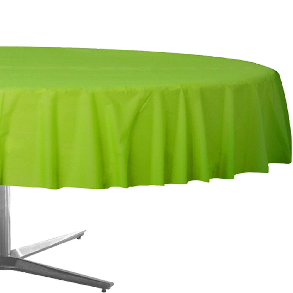 84 Quot Kiwi Green Round Plastic Tablecover Table Cover Cloth