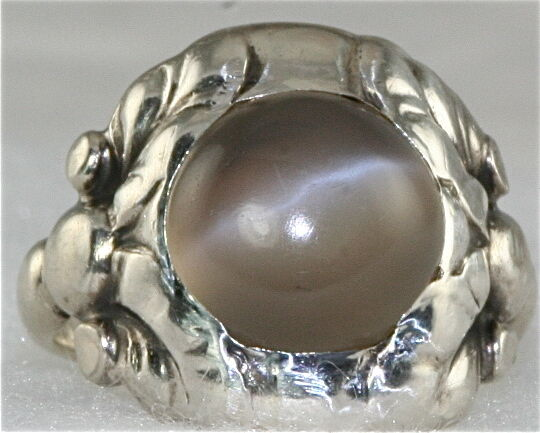 Vintage Georg Jensen No 11 830 Silver Moonstone Ring Ebay