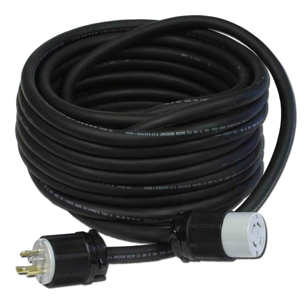 50 Ft  30a  10  4 L14 240v Generator Power Cord