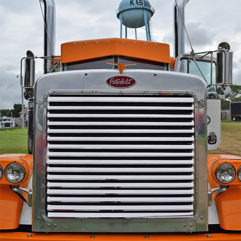 Grill Guards For 379 Peterbilt S : Peterbilt extended hood louvered grill louvers ebay