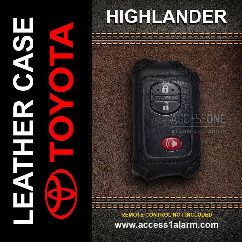 Toyota Highlander Smart Key Leather Remote Control Cover
