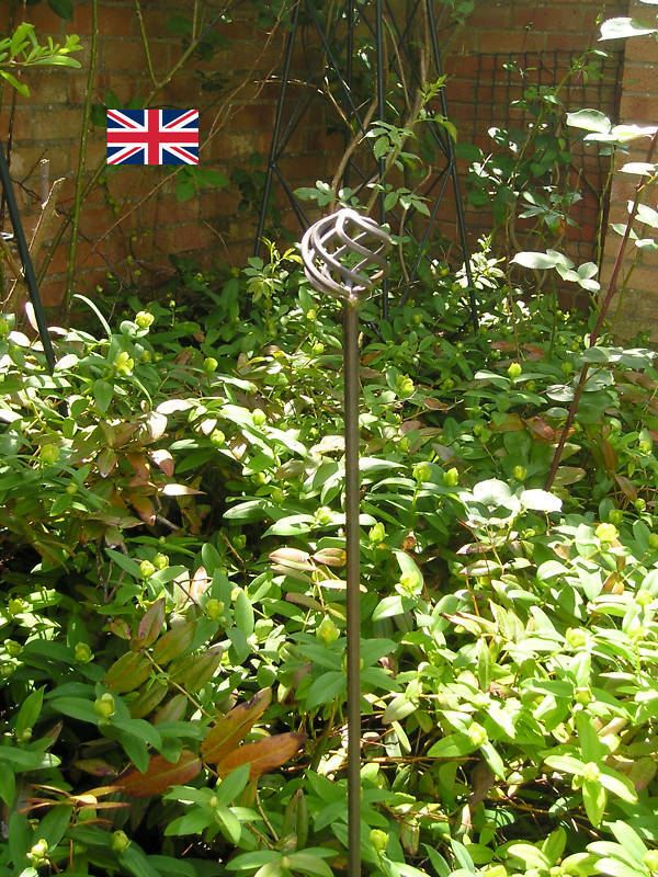 handcrafted metal garden plant support stakes heavy duty. Black Bedroom Furniture Sets. Home Design Ideas