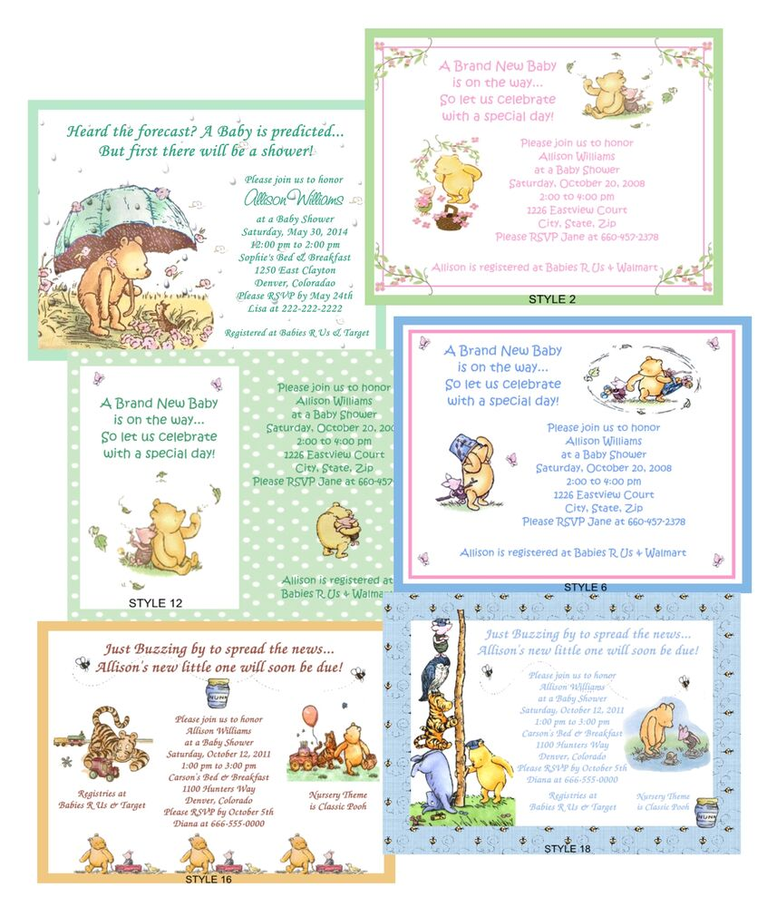 classic pooh baby shower invitations ebay