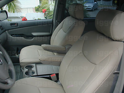 toyota sienna 1998 2003 iggee s leather custom seat cover 13 colors available ebay. Black Bedroom Furniture Sets. Home Design Ideas