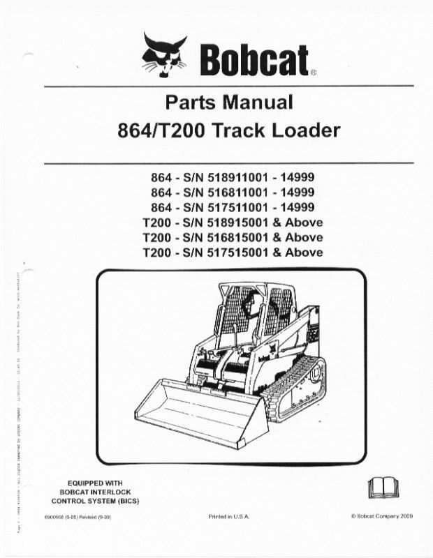 Bobcat t250 parts Manual mt52